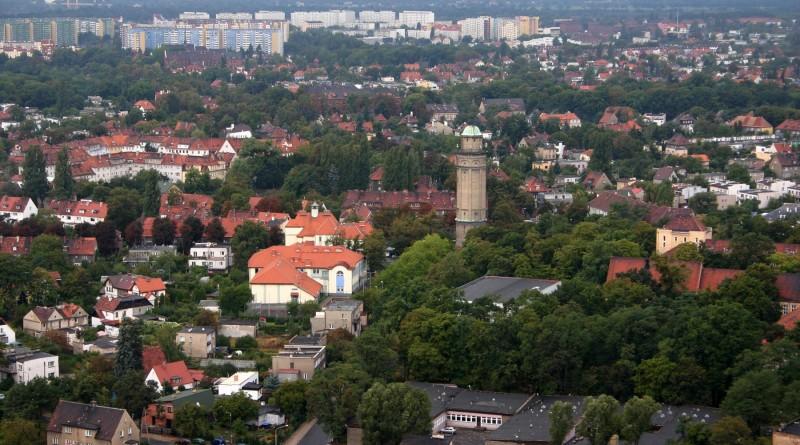 Osiedle Karłowice - Różanka z lotu ptaka / Wrocław