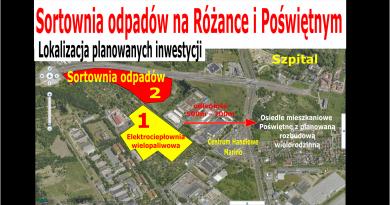 Lokalizacja sortowni odpadów Wrocław Różanka i Poświętne