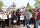 """""""STOP Spalarni odpadów"""" protest na Różance przed kamerami ogólnopolskiej telewizji!"""
