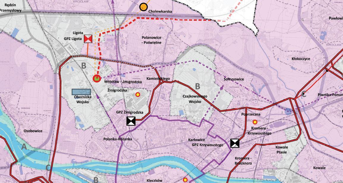 Mapka studium infrastruktura ul Obornicka