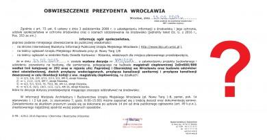 Obwieszczenie Prezydenta Wrocławia