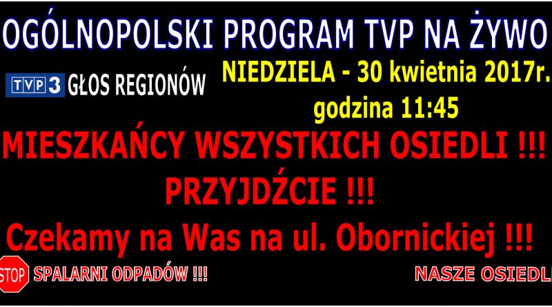 TVP GŁOS REGIONÓW PROGRAM NA ŻYWO STOP SPALANI ODPADÓW V05