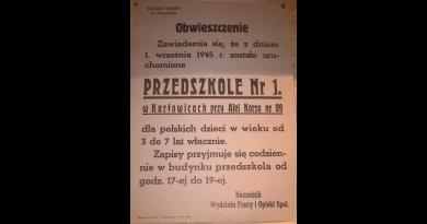 Przedszkole nr 1 we Wrocławiu na Karłowicach