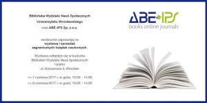 Wystawa i sprzedaż zagranicznych książek naukowych – Instytut Socjologii UW @ ul. Koszarowa 3 | Wrocław | Województwo dolnośląskie | Polska