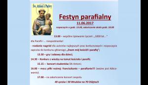 Festyn – Parafia św. Antoniego na Karłowicach @ ul. Kasprowicza 26