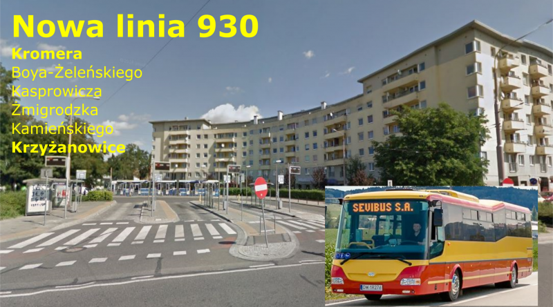 Nowa linia strefowa 930 z Kromera do Krzyżanowic – od 29 lipca 2017r.