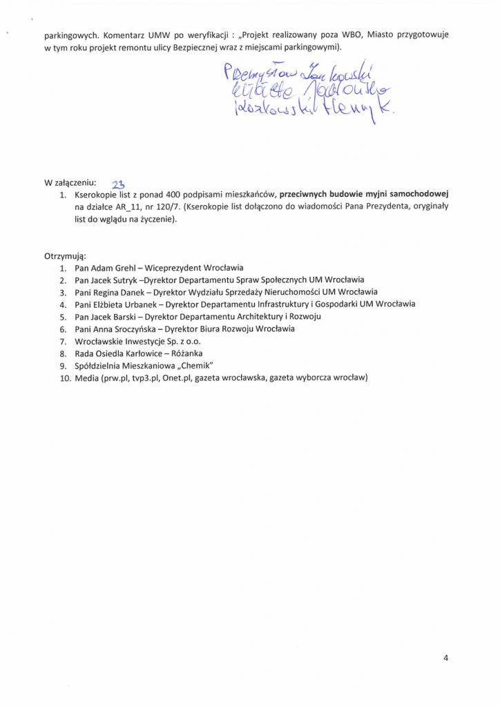 Petycja w sprawie myjni str 4