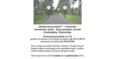 WBO 2017 utwardzenie alei pomiędzy ulicami Grudziądzką i Kętrzyńską