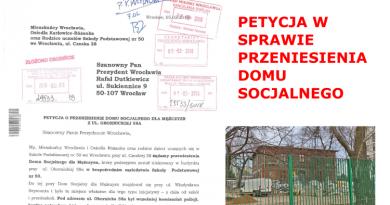 Petycja w sprawie przeniesienia Domu Socjalnego dla Mężczyzn z ul. Obornickiej 58A