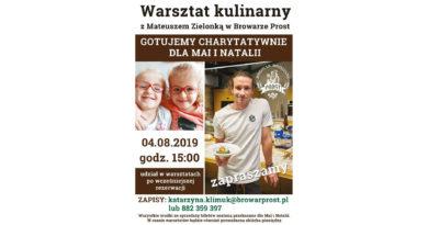 Warsztat kulinarny z Mateuszem Zielonką w Browarze PROST – akcja charytywna